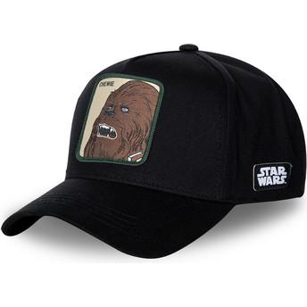 Capslab Curved Brim Chewbacca CHE3 Star Wars Black Snapback Cap