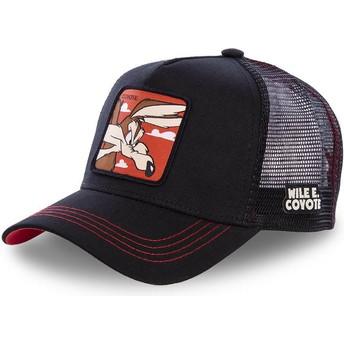Gorra trucker negra Coyote COY1 Looney Tunes de Capslab