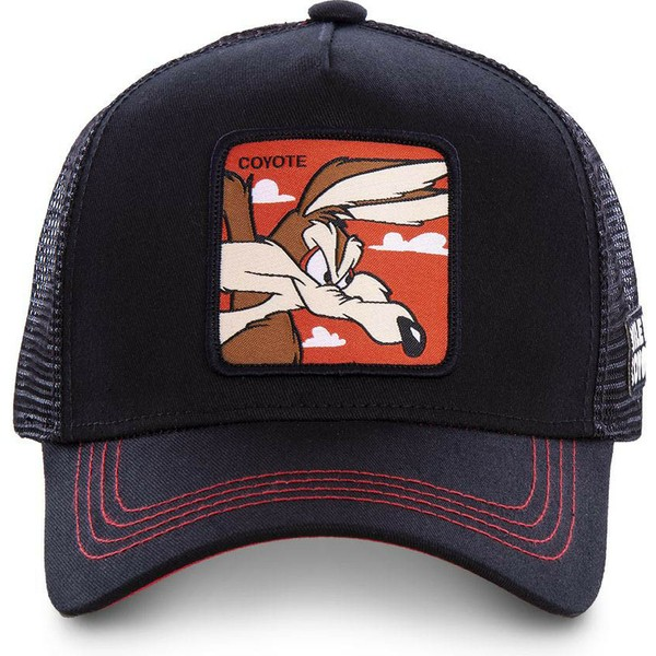 capslab-wile-e-coyote-coy1-looney-tunes-black-trucker-hat