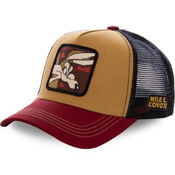 Gorra trucker marrón, negra y roja Coyote COY2 Looney Tunes de Capslab