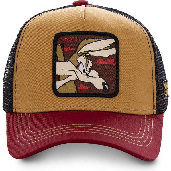 capslab-wile-e-coyote-coy2-looney-tunes-brown-red-and-black-trucker-hat