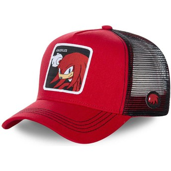 Capslab Knuckles the Echidna KNU Sonic the Hedgehog Red and Black Trucker Hat