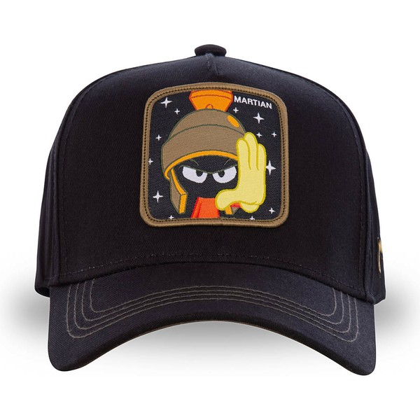 capslab-curved-brim-marvin-the-martian-mar3-looney-tunes-black-snapback-cap