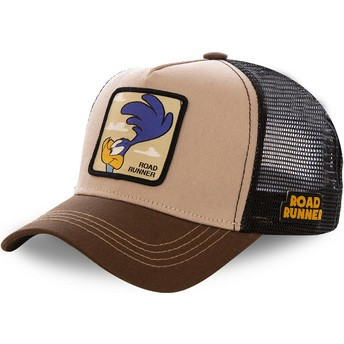 Capslab Road Runner ROA2 Looney Tunes Brown Trucker Hat