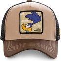capslab-road-runner-roa2-looney-tunes-brown-trucker-hat
