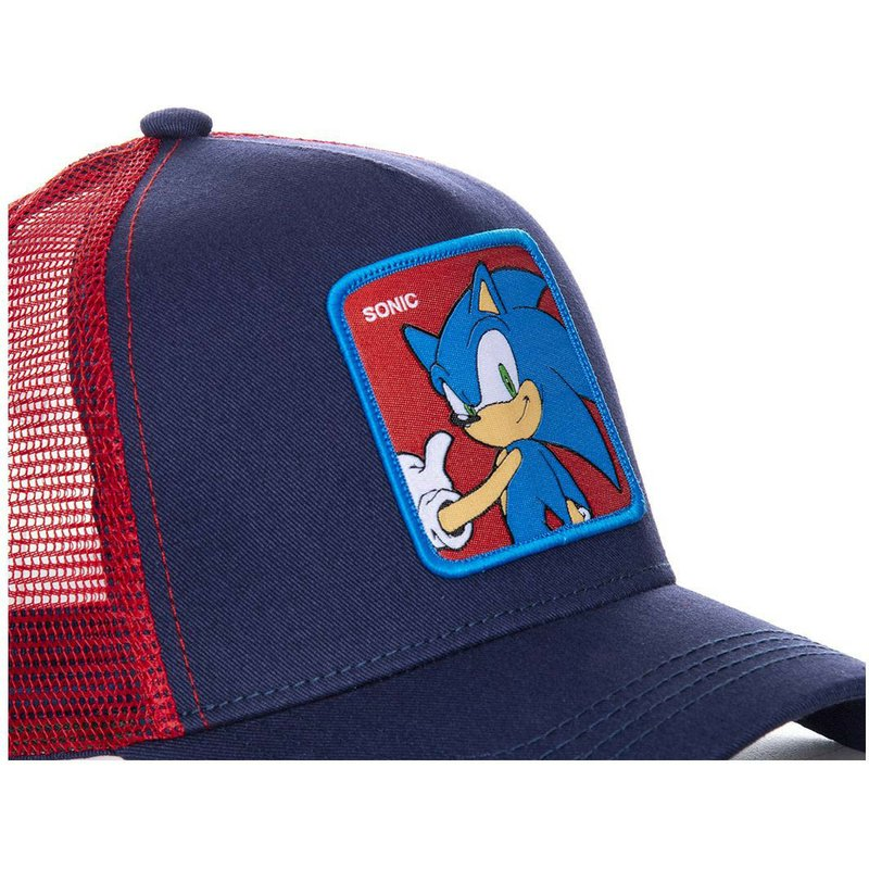 fc77e289 Capslab Sonic SO1 Sonic the Hedgehog Navy Blue and Red Trucker Hat ...
