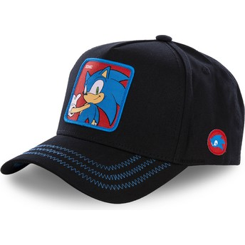 Capslab Curved Brim Sonic SO1B Sonic the Hedgehog Black Snapback Cap