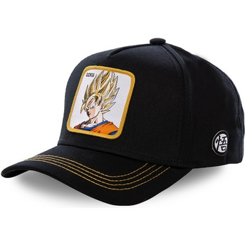 Capslab Curved Brim Son Goku Super Saiyan GO2 Dragon Ball Black Snapback Cap