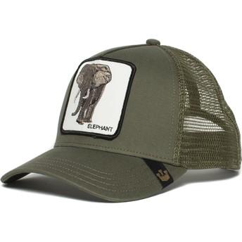 Gorra trucker verde elefante Elephant de Goorin Bros.