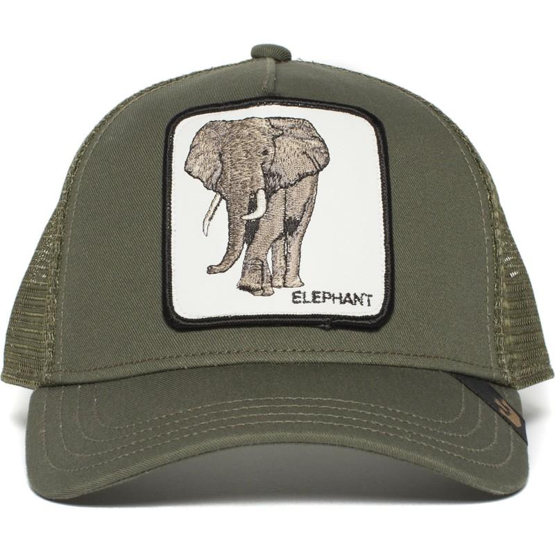 Goorin Bros. Elephant Green Trucker Hat  Shop Online at Caphunters 61b209f5288