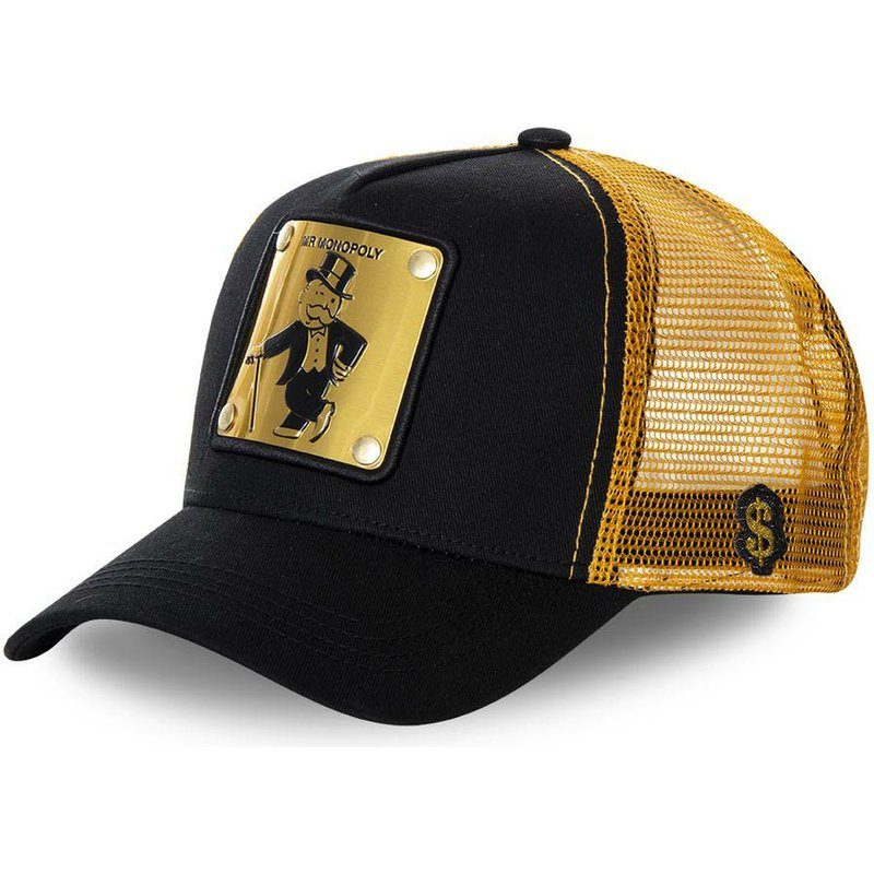capslab-rich-uncle-pennybags-money-monopoly-black-and-golden-trucker-hat