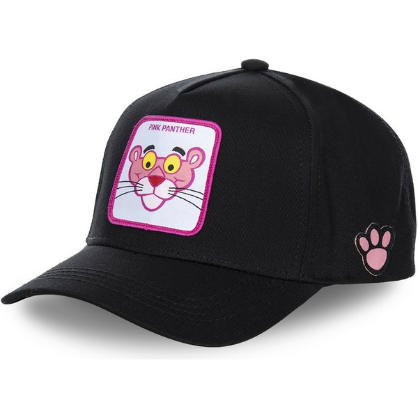 capslab-curved-brim-the-pink-panther-pant3-black-snapback-cap