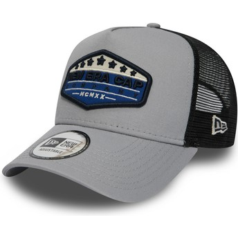 New Era Patch A Frame Grey Trucker Hat