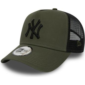 New Era League Essential A Frame de New York Yankees MLB Green Trucker Hat