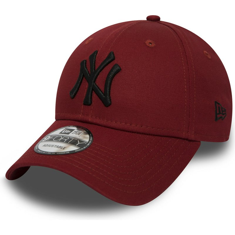 f5b9f3213 New Era Curved Brim Black Logo 9FORTY Essential de New York Yankees ...