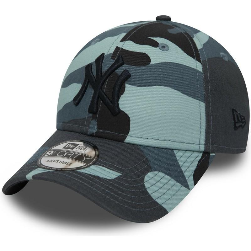 87edcb44fc New Era Curved Brim Black Logo 9FORTY Essential de New York Yankees ...