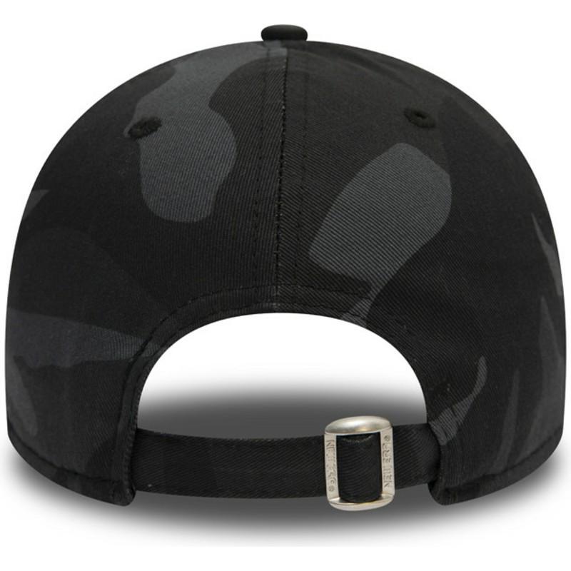 New Era Curved Brim Black Logo 9FORTY Essential de Los Angeles ... b7f2ee9db76