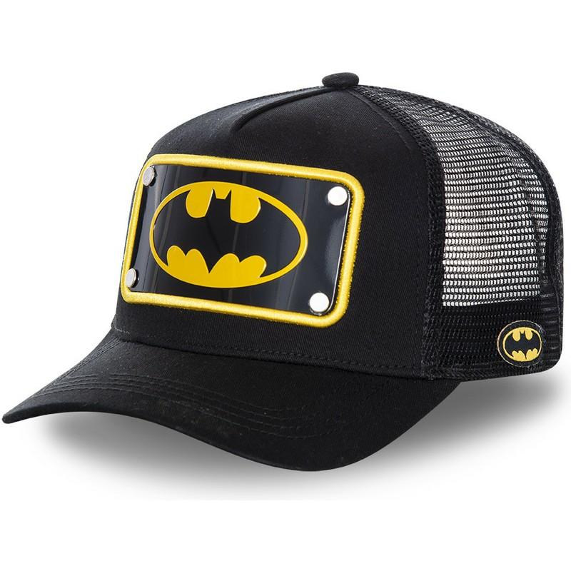 Capslab Batman Symbol Plate BATP5 DC Comics Black Trucker Hat   Shop ... e5949be29e4