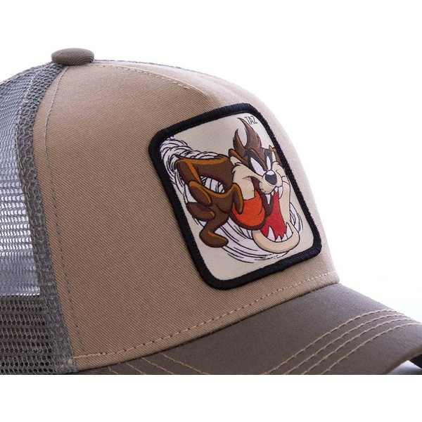 capslab-tasmanian-devil-taz3-looney-tunes-brown-trucker-hat