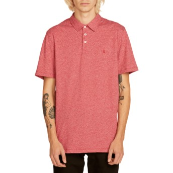 Volcom Burgundy Wowzer Red Polo