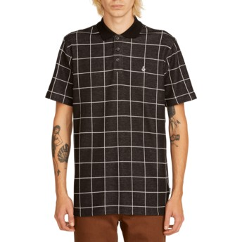 Volcom Black Wowzer Plaid Black Check Polo