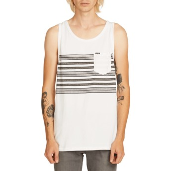 Volcom White Forzee White Sleeveless T-Shirt