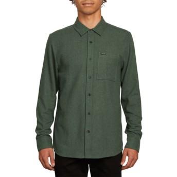 Volcom Dark Pine Caden Solid Green Long Sleeve Shirt