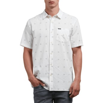 Volcom White Trenton White Short Sleeve Shirt