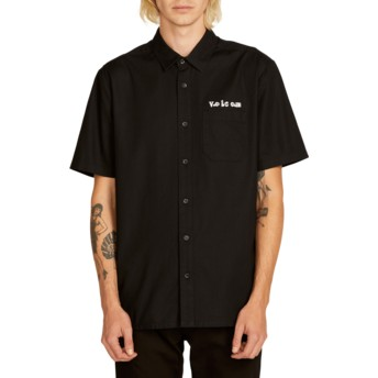 Volcom Black Crowd Control Black Short Sleeve Shirt