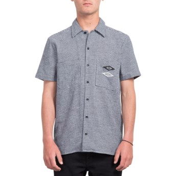 Volcom White V.I. Blue Short Sleeve Shirt