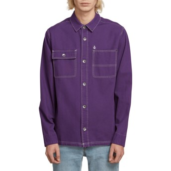 Volcom Dark Purple Fitzkrieg Purple Long Sleeve Shirt