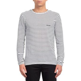 Volcom White Harweird Stripe II White Sweatshirt
