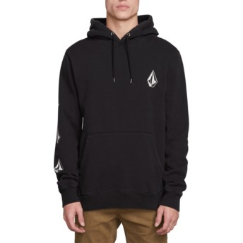Volcom Washed Black Deadly Stones Black Hoodie Sweatshirt