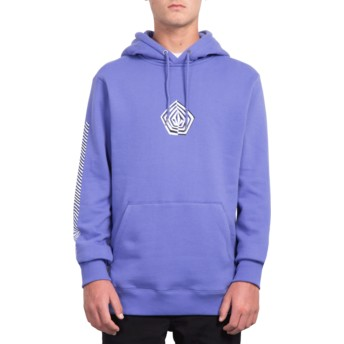 Volcom Dark Purple Deadly Family Stone Purple Hoodie Sweatshirt