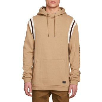 Volcom Sand Brown Thrifter Brown Hoodie Sweatshirt