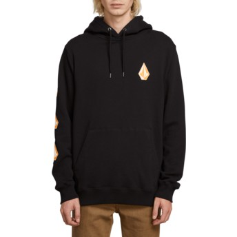 Volcom Black Deadly Stone Black Hoodie Sweatshirt