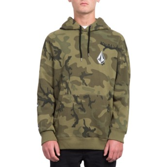 Volcom Camouflage Deadly Stone Camouflage Hoodie Sweatshirt