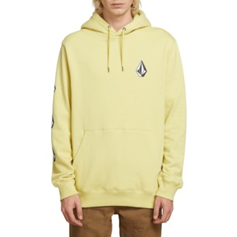 Volcom Lime Deadly Stone Yellow Hoodie Sweatshirt