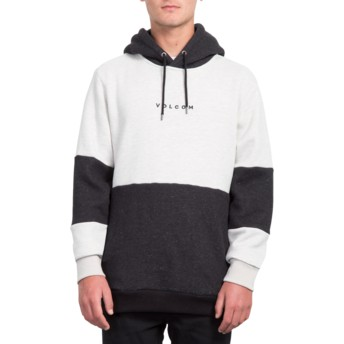 Volcom Heather Grey Construct Grey and Black Hoodie Sweatshirt