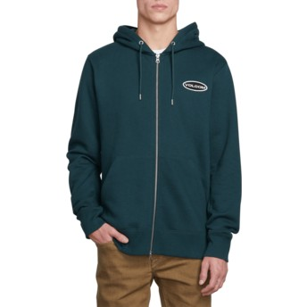 Volcom Dark Pine Shop Green Hoodie Sweatshirt