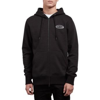Volcom A Zipper Lead Shop Black Hoodie Sweatshirt