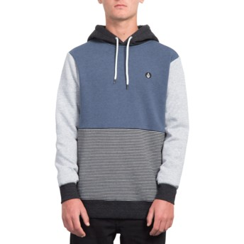 Volcom Indigo Forzee Navy Blue and Grey Hoodie Sweatshirt