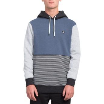 Volcom Indigo Forzee Navy Blue and Grey Hoodie Sweatshirt