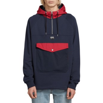 Volcom Navy Alaric Navy Blue Front Pocket Hoodie Sweatshirt