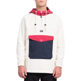 Volcom Off White Alaric White Front Pocket Hoodie Sweatshirt