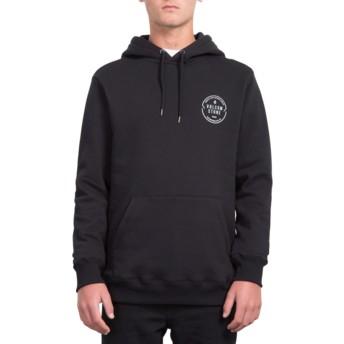 Volcom Black General Stone Black Hoodie Sweatshirt