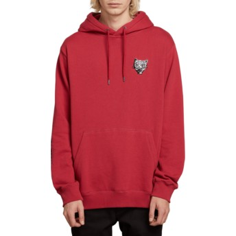 Volcom Burgundy Heather Shoots Red Hoodie Sweatshirt
