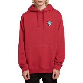 Volcom Burgundy Heather Shoots Red Hoodie Sweatshirt