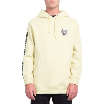 Volcom Lime Shoots Yellow Hoodie Sweatshirt