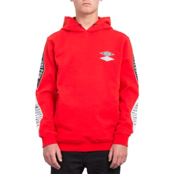 Volcom Bright Red V.I. Red Hoodie Sweatshirt
